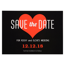 Heart Personalised Save The Date Card