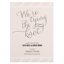 We'Re Tying The Knot Personalised Save The Date Card