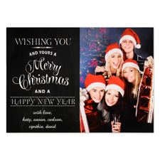 Wishing You Personalised Photo Christmas Card