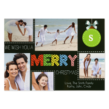 We Wish You A Merry Christmas Personalised Photo Card