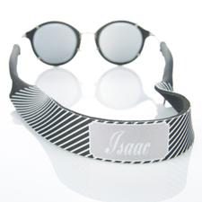 Black Stripe Monogrammed Sunglass Strap