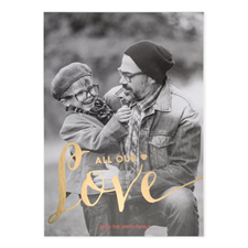 Foil Gold All Our Love Personalised Valentine's Day Card