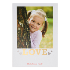 Foil Gold Love Personalised Valentine's Day Card