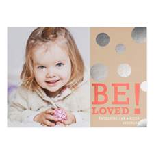 Foil Silver Be Loved Personalised Valentine's Day Card