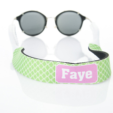 Lime Green Interlocking Circle Monogrammed Sunglass Strap