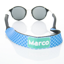 Blue Interlocking Circle Monogrammed Sunglass Strap