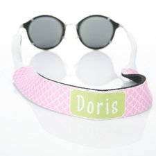 Pink Interlocking Circle Monogrammed Sunglass Strap