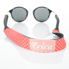Red Interlocking Circle Monogrammed Sunglass Strap