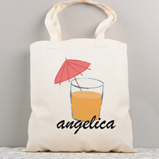Cool Drink Personalised Summer Cotton Tote Bag