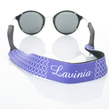 Purple Circle Monogrammed Sunglass Strap