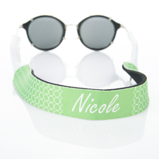 Lime Green Circle Monogrammed Sunglass Strap