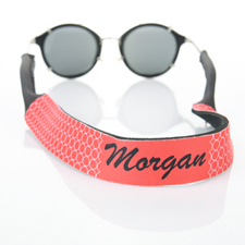 Red Circle Monogrammed Sunglass Strap