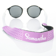 Lavender Circle Monogrammed Sunglass Strap