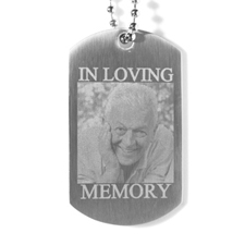In Loving Memory Engraved Photo Dog Tag Necklace