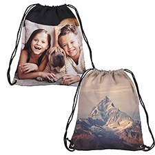 Personalised Photo All Over Print Drawstring Backpack, Large