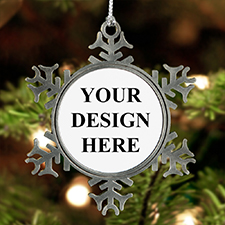 Custom Design Pewter Snowflake Ornament