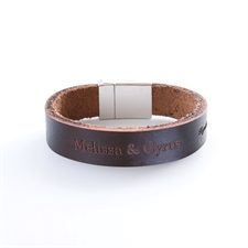 Customised Monogrammed Leather Bracelet
