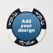 Custom Design Two Tone White Poker Chip