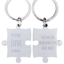 Love Custom Name Engraved Puzzle Keychain
