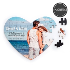 Personalised Images and Message Heart-Shaped Magnetic Puzzle
