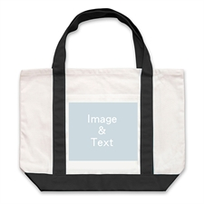 Landscape Photo Custom Large Tote Bag
