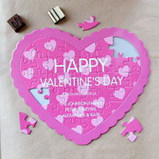 Secret Message Personalised Heart Shape Puzzle