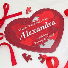 Sweetest Personalised Heart Shape Puzzle