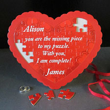 L O V E Personalised Heart Shape Puzzle