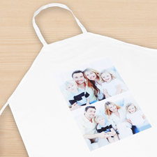 Two Portrait Collage Personalised Adult Apron