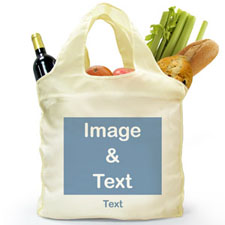 Personalised Folded Shopper Bag, Landscape Image
