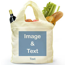 Personalised Folded Shopper Bag, Square Image