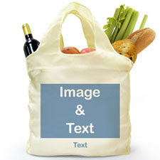 Personalised Folded Shopper Bag, Full Landscape Image
