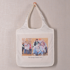 Personalised 2 Collage Shopper Bag, Elegant