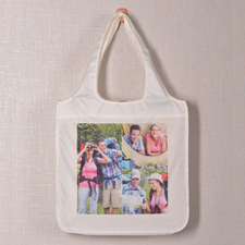 Personalised 3 Collage Folded Shopper Bag, Contemporary