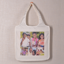 Personalised 5 Collage Folded Shopper Bag, Classic