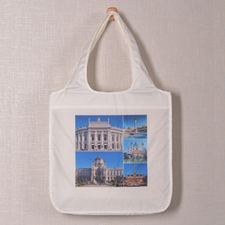 Personalised 5 Collage Folded Shopper Bag, Modern