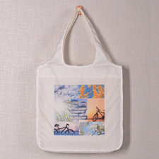 Personalised 7 Collage Folded Shopper Bag, Classic