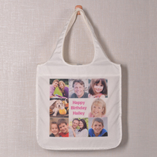 Personalised 8 Collage Folded Shopper Bag, Classic