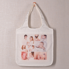 Personalised 9 Collage Folded Shopper Bag, Classic