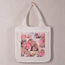 Personalised 9 Collage Folded Shopper Bag, Snapshots