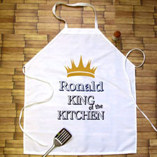 King Of The Kitchen Personalised Adult Apron