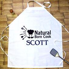 Natural Born Cook Personalised Adult Apron