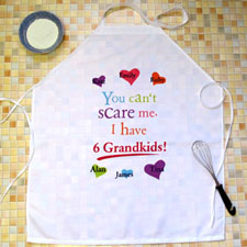 Grandma Colourful Heart Personalised Adult Apron
