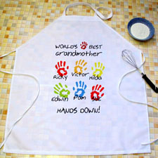 Grandma Hands Down Personalised Adult Apron