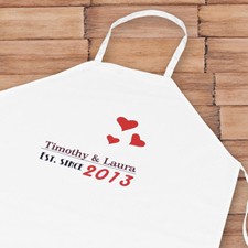 Est. Since Personalised Adult Apron