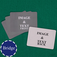 Bridge Size Playing Cards Landscape Custom Cards (Blank Cards)