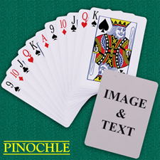 Personalised Poker Pinochle Playing Cards