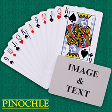 Personalised Poker Pinochle Landscape Playing Cards