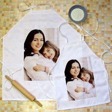 Portrait Photo Personalised Adult Kids Apron Set