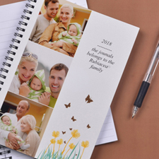 Create Your Own Three Collage Spring Flowers Photo Notebook